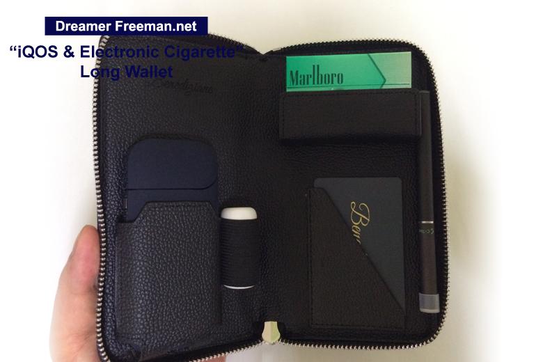 アイコスとシーテックデュオが一緒に収納できる長財布型ケース画像3