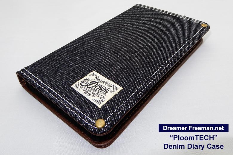 デニム素材の手帳型プルームテックケース画像1