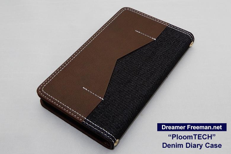 デニム素材の手帳型プルームテックケース画像2