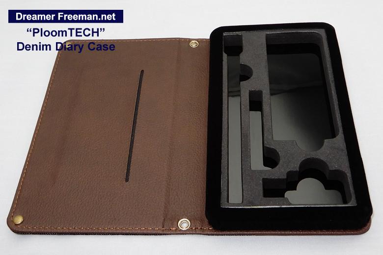 デニム素材の手帳型プルームテックケース画像3